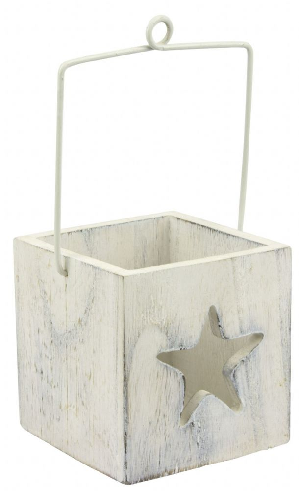 Starfish Candle Holder Wooden Box with Handle